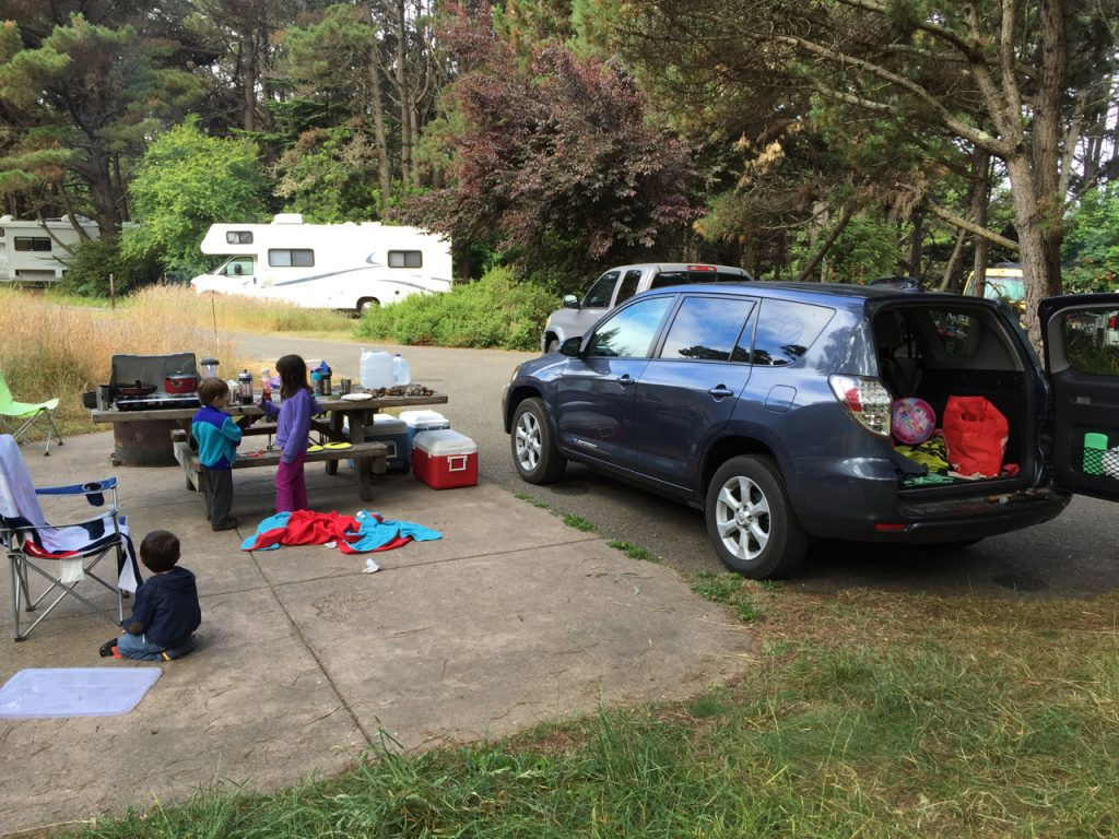 Camping at Stillwater Cove.