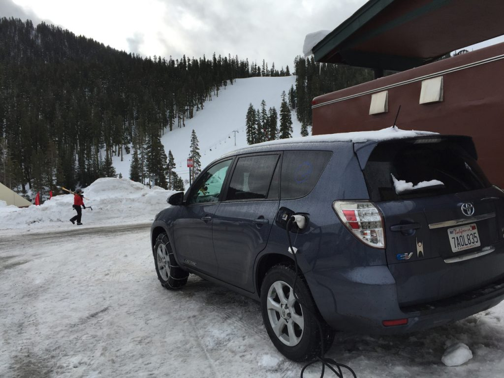Ski resorts in the Sierra Nevadas are starting to provide charging infrastructure for customers.