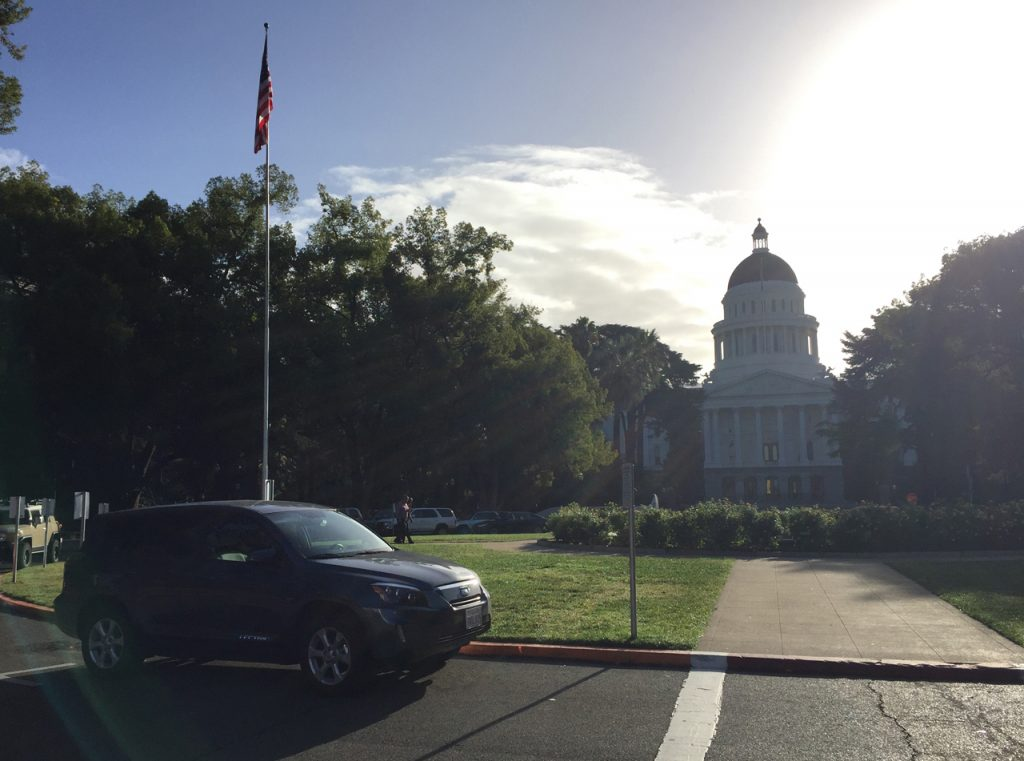 My daily commute to work sometimes takes me by the state capitol building in Sacramento.