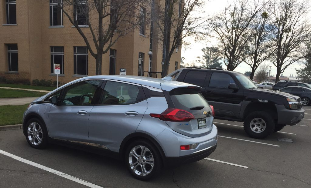 The Chevy Bolt is here. It's now. And it's a nice car.
