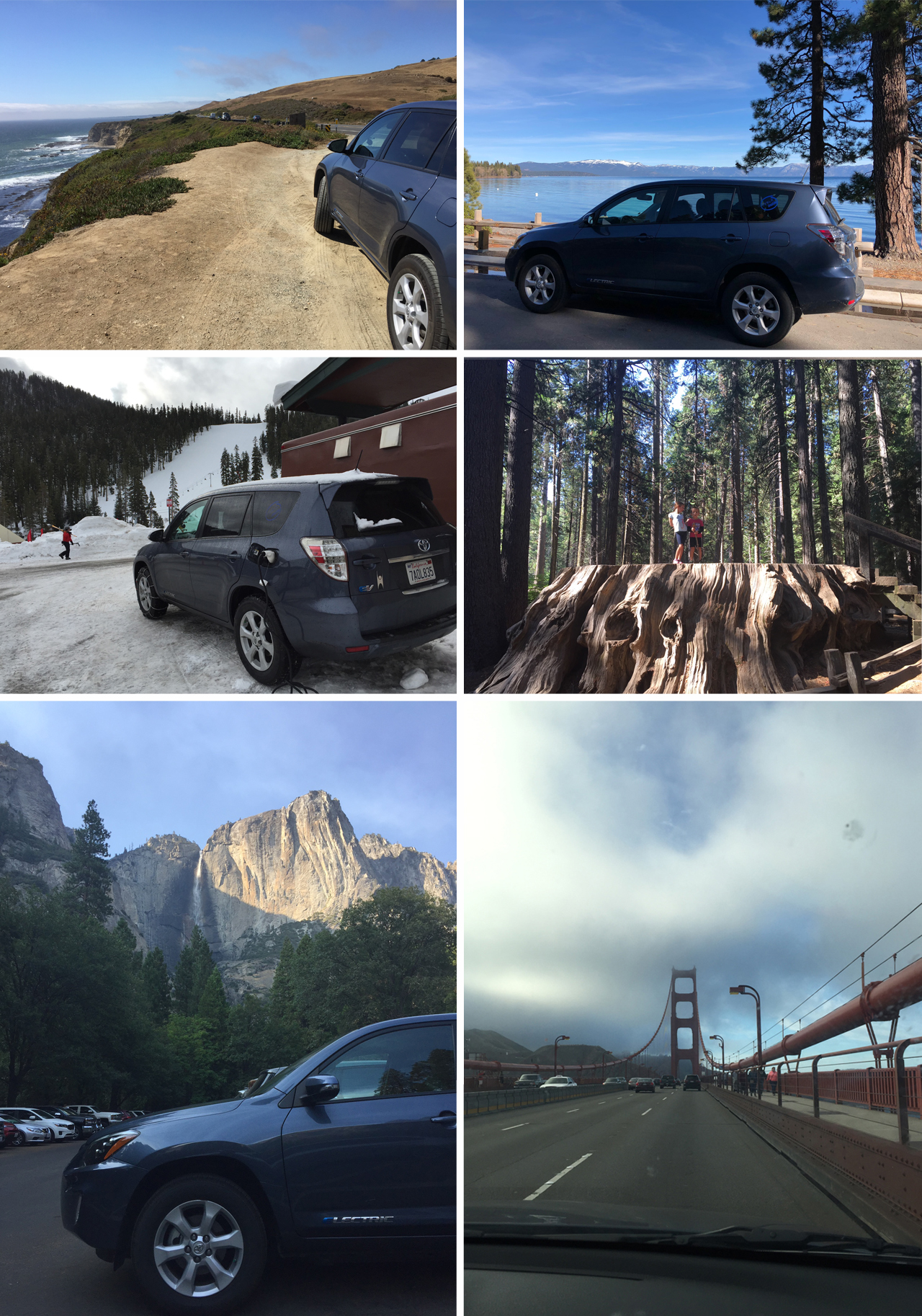 Great memories from trips to Monterey, Lake Tahoe, Calaveras Big Trees State Park, Yosemite and many, many visits to the Bay Area.