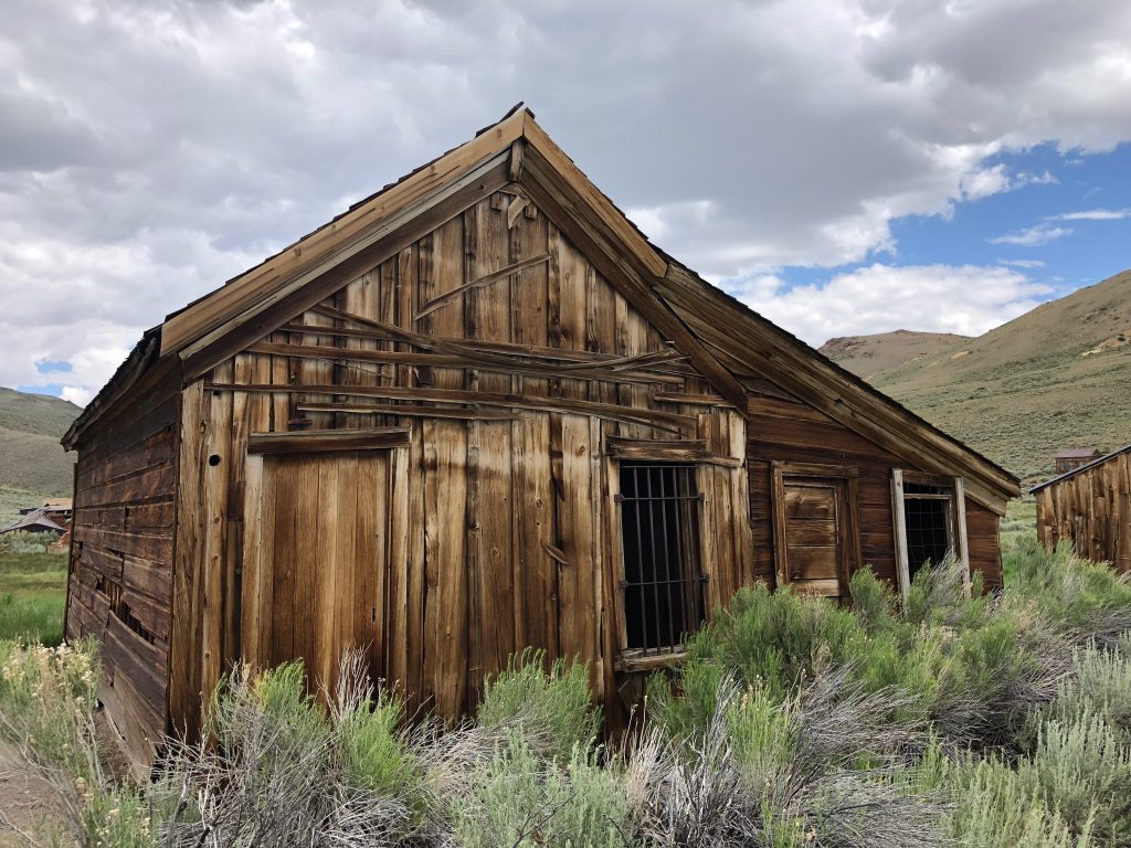 Bodie State Historic Park. This old mining ghost town is a beautiful place to visit if you can get there.