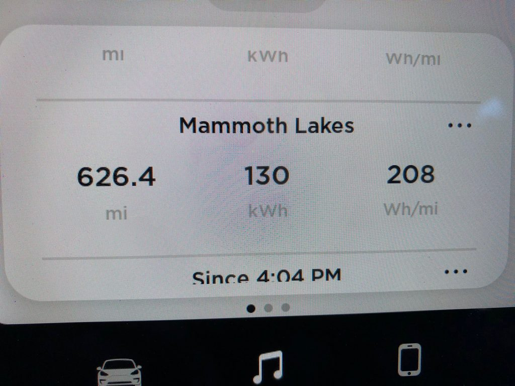 We used 130 kWh for this 625 mile trip. The Model 3 can be fast when you want and efficient if you like that too.