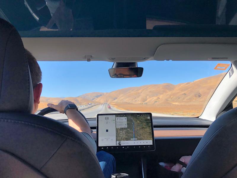 The Model 3 is a good road trip car.