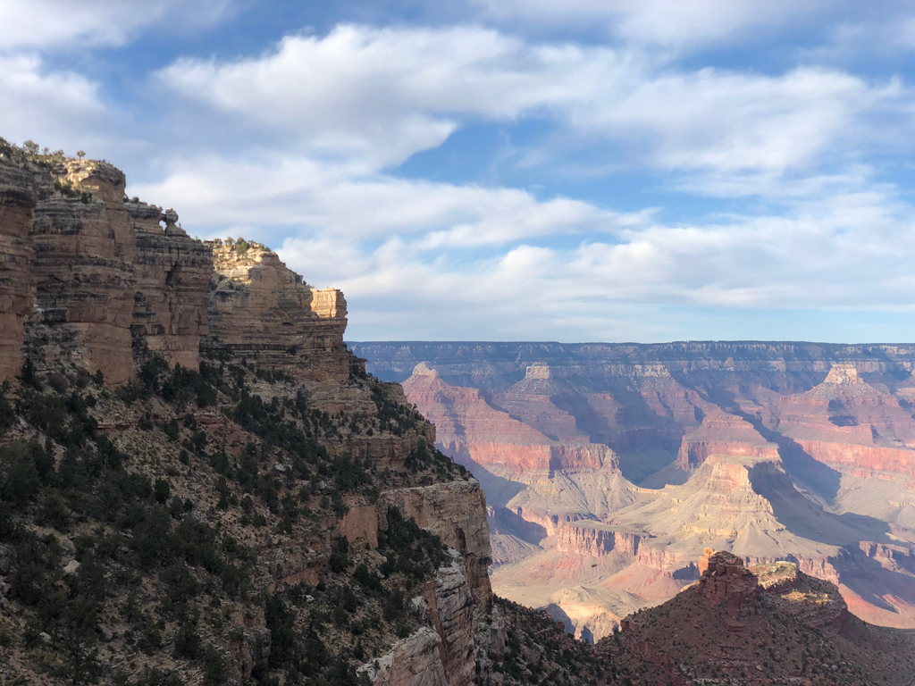 Picture of the Grand Canyon taken during my hike along the Bright Angel Trail.