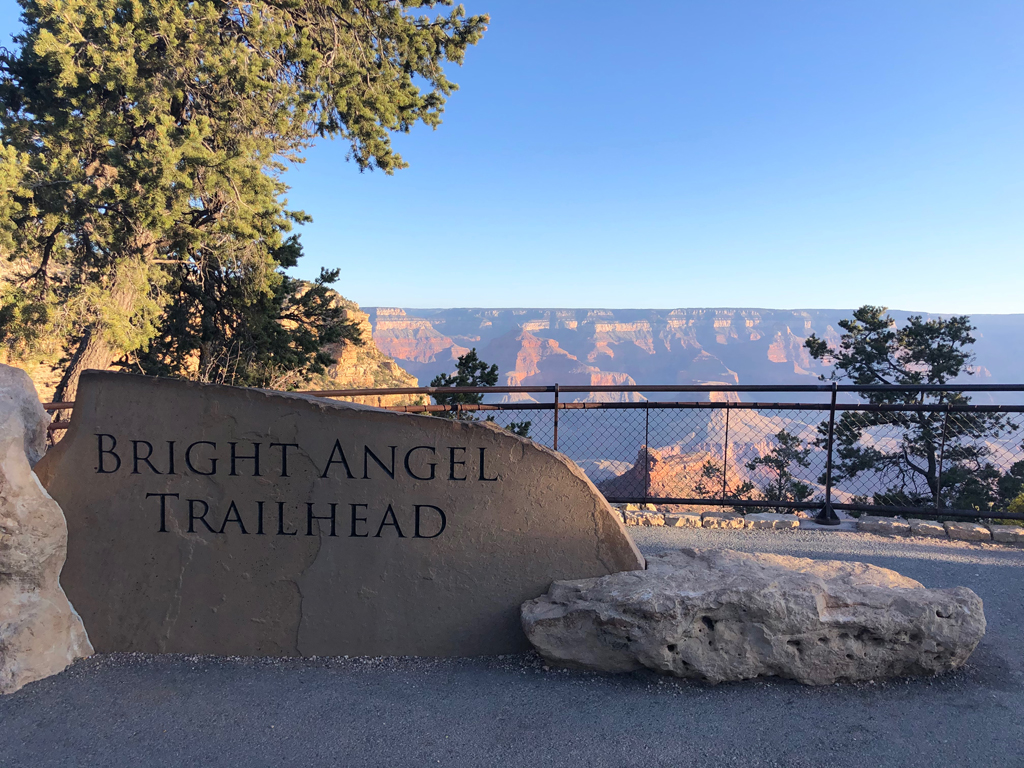 Picture of the Grand Canyon from the Bright Angel Trailhead.