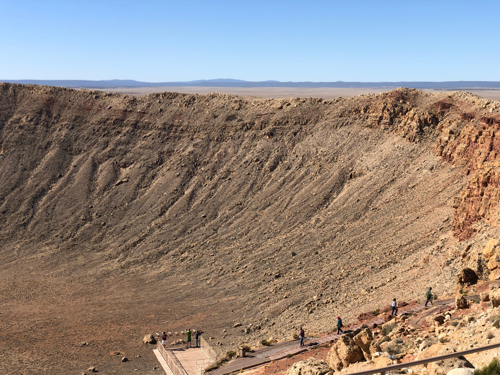 Second picture of Meteor Crater.