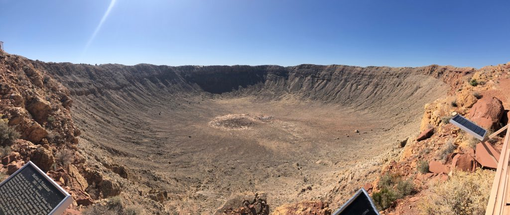 Panoramic view of Meteor Crater.