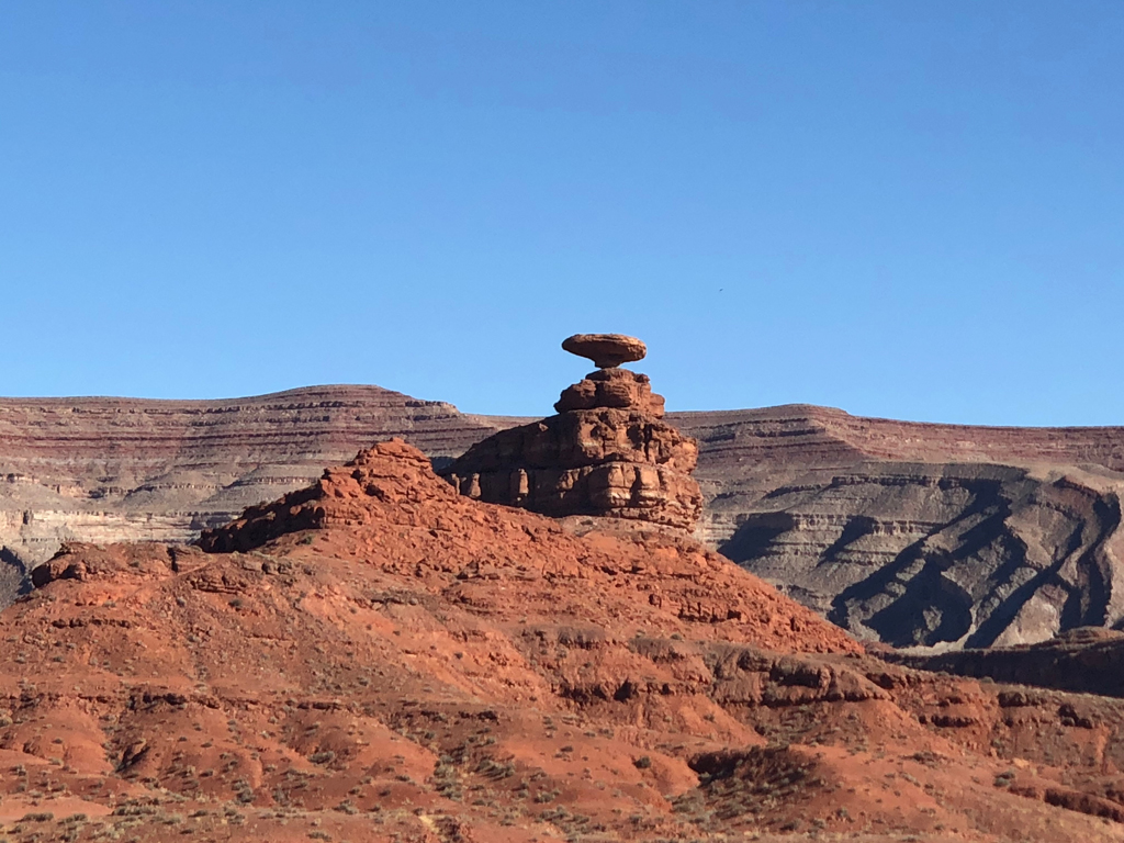Picture of the Mexican Hat rock formation.