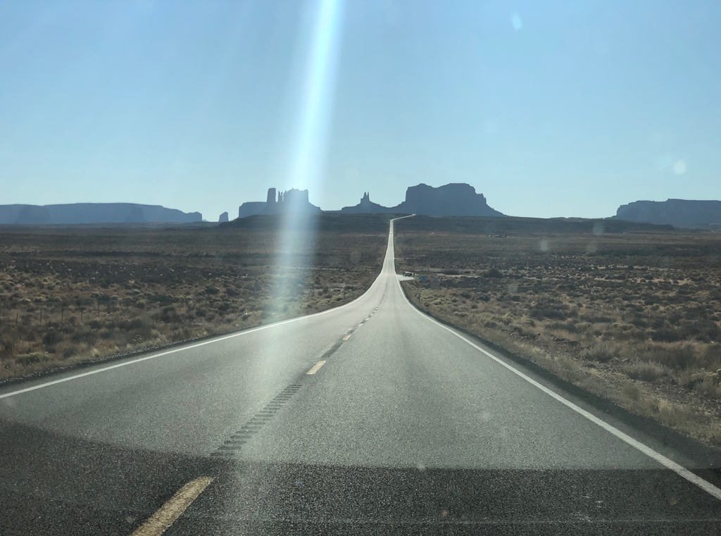 View of Monument Valley from Route 163.