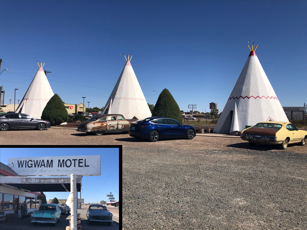 Picture of the Wigwam Motel on Route 66.